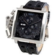 Ingersoll® Bison No. 11 Black Leather Watch