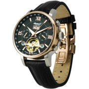 Ingersoll® Grand Canyon Automatic Black Leather