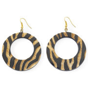 a.n.a®  open disc zebra ear ring