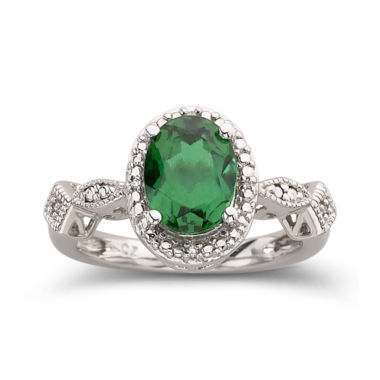 jcpenney.com | Lab-Created Emerald Ring In Sterling Silver
