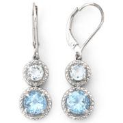 Sterling Silver Topaz & Diamond-Accent Earrings