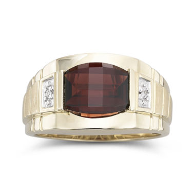 jcpenney.com | Men's Garnet & Diamond 10K Gold Ring