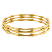 Bamboo-Style 3-piece Bangle Bracelet Set