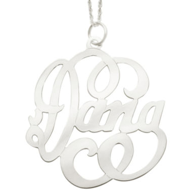 jcpenney.com | Personalized Sterling Silver Swirl Name Necklace