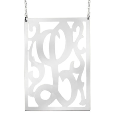 jcpenney.com | Personalized Sterling Silver Initial Swirl Necklace
