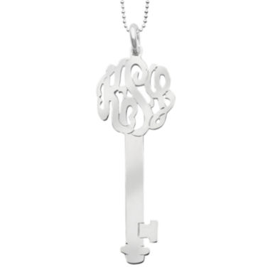 jcpenney.com | Personalized Sterling Silver Monogram Key Necklace