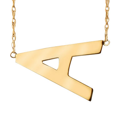 jcpenney.com | Personalized Gold-Filled Sideways Initial Necklace
