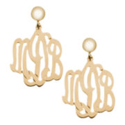 12K Gold-Filled Monogram Drop Earrings
