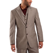 Steve Harvey® Brown Sharkskin Suit Jacket–Big & Tall