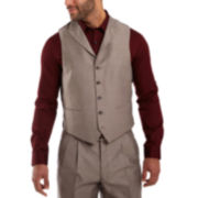 Steve Harvey® Brown Sharkskin Suit Vest