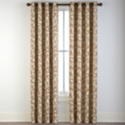 Sonoma Leaf Print Grommet-Top Curtain Panel