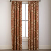 Dubai Damask Rod-Pocket Curtain Panel