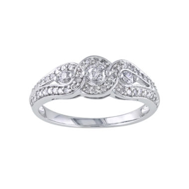 jcpenney.com | 1/2 CT. T.W. Diamond Vintage-Style Engagement Ring