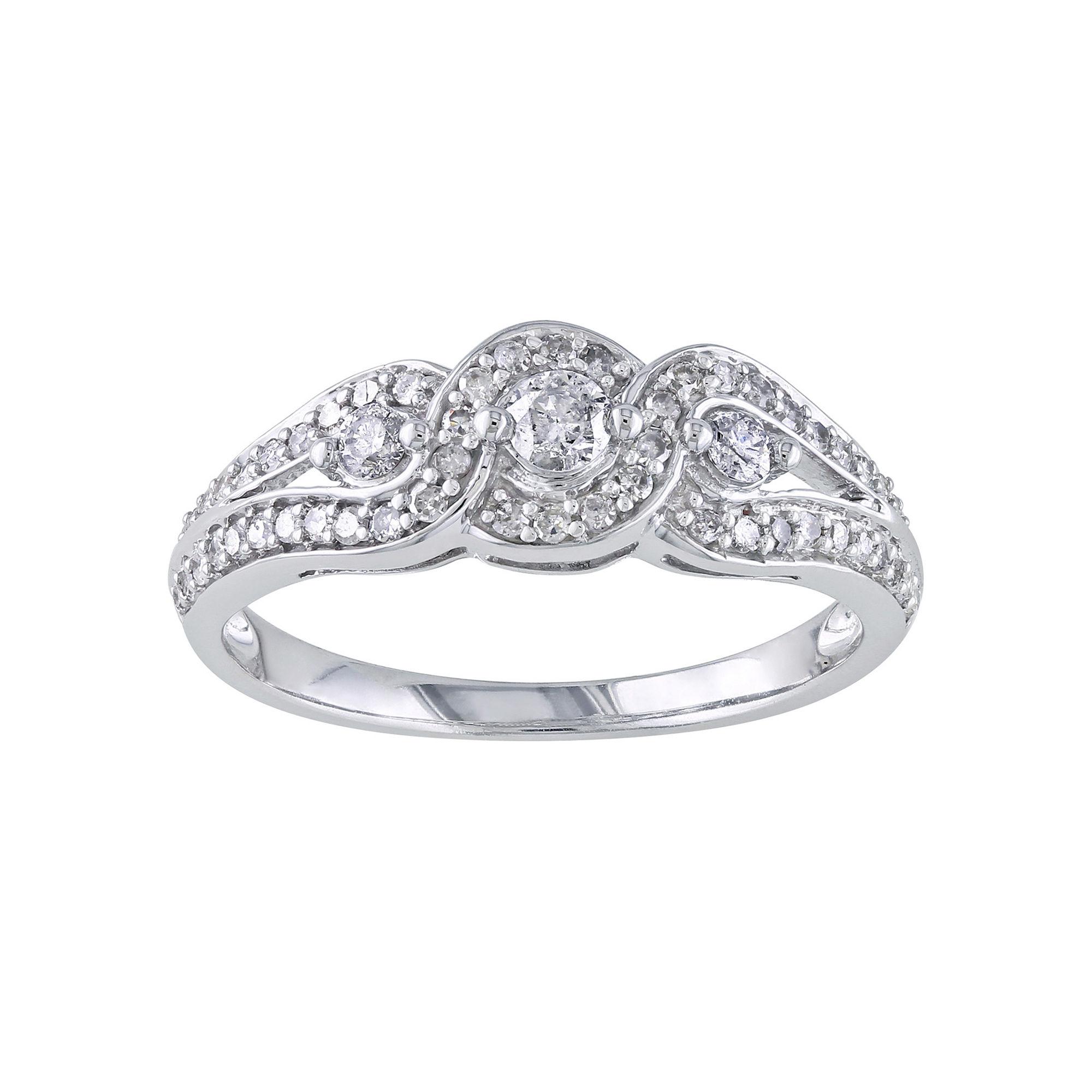 1/2 CT. T.W. Diamond Vintage-Style Engagement Ring plus size,  plus size fashion plus size appare