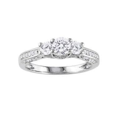 jcpenney.com | 1 CT. T.W. Three-Stone Diamond Engagement Ring
