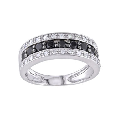 jcpenney.com | Midnight Black Diamond 1/6 CT. T.W. Diamond & Color-Enhanced Black Diamond-Accent Wedding Band