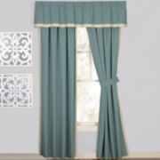 Seaside Bloom Curtain Panel Pair