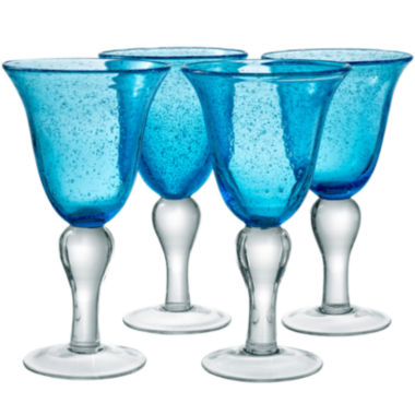 jcpenney.com | Iris Set of 4 Glass Goblets