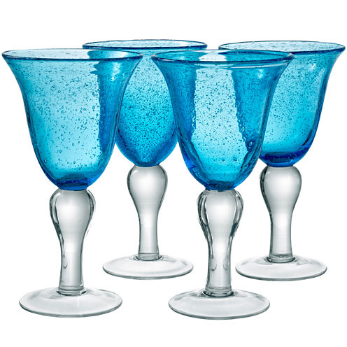 Iris Set of 4 Glass Goblets