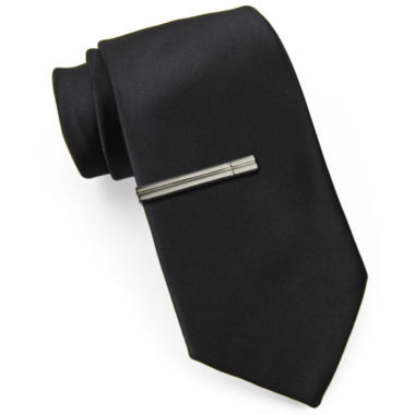 jcpenney.com | JF J. Ferrar® Slim Tie with Tie Bar