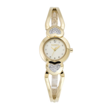 jcpenney.com | Elgin® Womens Heart-Shaped Crystal Bangle Watch