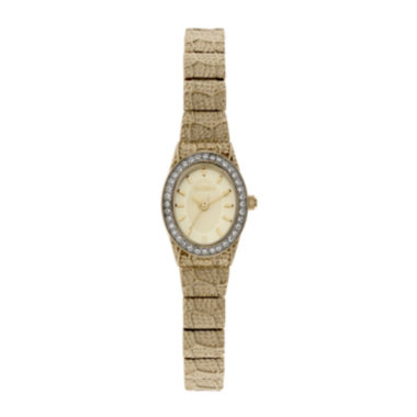 jcpenney.com | Elgin® Womens Oval Dial, Textured Strap Bracelet Watch