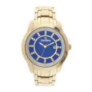 Elgin® Mens Crystal Blue Dial Watch