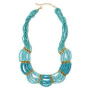 Aris by Treska Stationed Seedbead Necklace