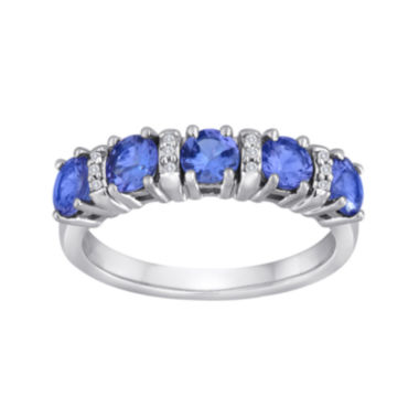 jcpenney.com | Tanzanite & Diamond-Accent 10K White Gold Band Ring