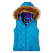 Vertical 9 Hooded Puffer Vest – Girls 6-16