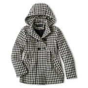 Rothschild Faux Wool Houndstooth Babydoll Jacket – Girls 6-16