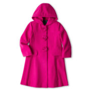 Rothschild Rosette Faux Wool Dress Coat – Girls 2t-6t