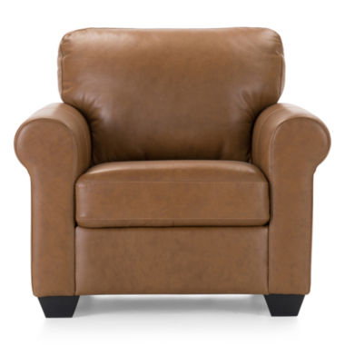 jcpenney.com | Leather Possibilities Roll-Arm Chair