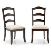 Farmhouse Set of 2 Dining Side Chairs