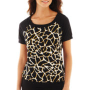 Worthington® Short-Sleeve Banded Top