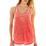 i jeans by Buffalo Burnout Racerback Tank Top