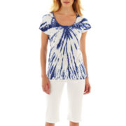 i jeans by Buffalo Tie-Dyed Tee or Bermuda Shorts