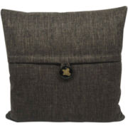 Square Decorative Button Pillow