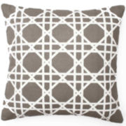 Cane Square Decorative Pillow