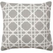 Cane Square Decorative Pillow
