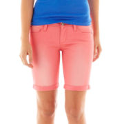 Arizona Roll-Cuff Denim Bermuda Shorts