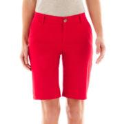 Liz Claiborne Twill Chino Bermuda Shorts
