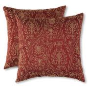 Scroll Damask Faux Silk 2-pk. Decorative Pillows