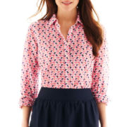 jcp Silk-Cotton Blend Shirt