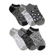 Mixit™6-pk. Black and White Animal Socks