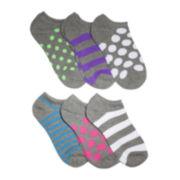 Mixit™ 6-pk. Patterned No-Show Socks