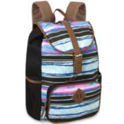 Cotton Drawstring Striped Backpack
