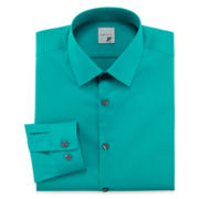 JF J. Ferrar® Easy-Care Stretch Dress Shirt - Super Slim