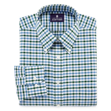 jcpenney.com | Stafford® Wrinkle-Free Oxford Dress Shirt - Big & Tall