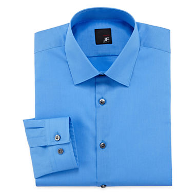 Jf j ferrar solid dress shirt slim fit for J ferrar military shirt